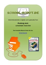 Lernwerkstatt: Unsere Erde - School-Scout