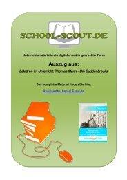Thomas Mann - Die Buddenbrooks - School-Scout