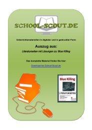 Literaturseiten mit Lösungen zu: Blue Killing - School-Scout