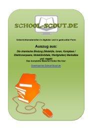 Die chemische Bindung (Moleküle, Ionen, Komplexe ... - School-Scout