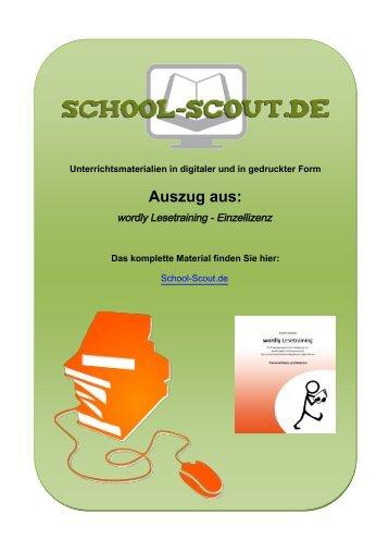 wordly Lesetraining - Einzellizenz - School-Scout