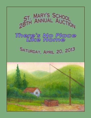 2013 Draft 2 SMS Auction Program.pub - St. Mary's School