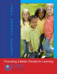 Annual Report - National School Climate Center