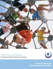 2008 Annual Report 2008 Annual Report - National School Climate ...