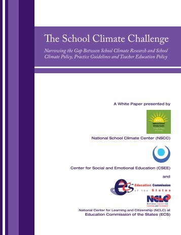 The School Climate Challenge - Education Commission of the States