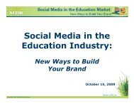 Social Media in the Education Industry: - Market Data Retrieval
