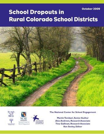 School Dropouts in Rural Colorado School Districts