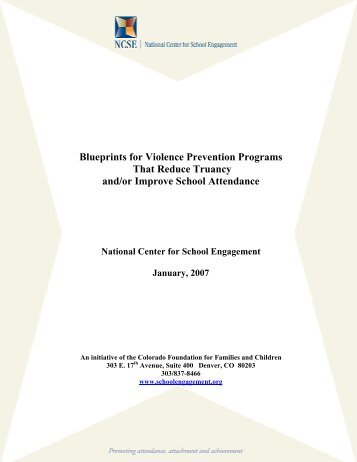 Blueprints for Violence Prevention Programs That Reduce Truancy ...