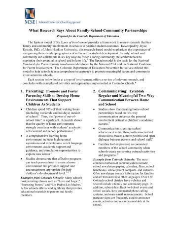 What Research Says About Family-School-Community Partnerships ...