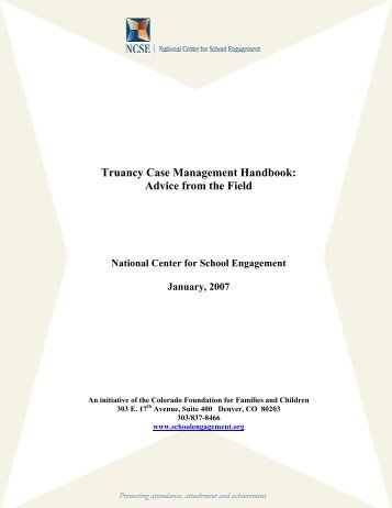 Truancy Case Management Handbook - National Center for School ...