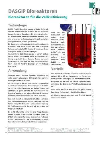 DASGIP Bioreaktoren für die Zellkultur