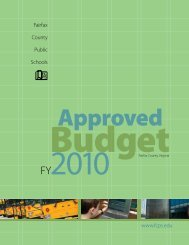 FY 2010 Approved Budget - Fairfax County Public Schools