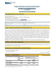 Foglio Informativo Sconto di  portafoglio - Banca Popolare del Lazio
