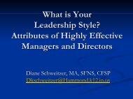 Leadership Styles - School Nutrition Association