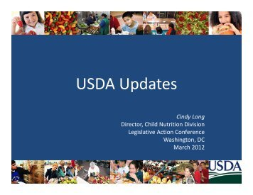 USDA Updates - School Nutrition Association