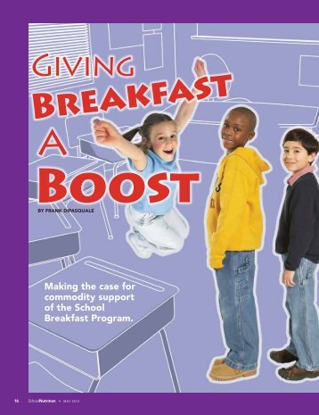 """Giving Breakfast a Boost"" - May 2012 - School Nutrition Association"