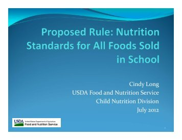 Competitive Foods: USDA Listening Session - School Nutrition ...