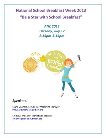 Be a Star with School Breakfast - School Nutrition Association