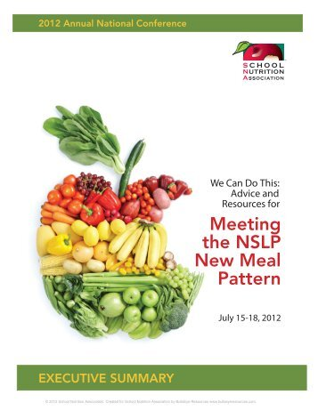 Advice and Resources for Meeting the NSLP New Meal Pattern