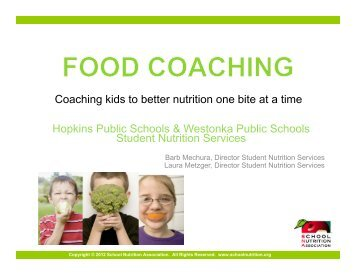 Coaching kids to better nutrition one bite at a time - School Nutrition ...