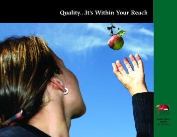 Quality...It's Within Your Reach - School Nutrition Association