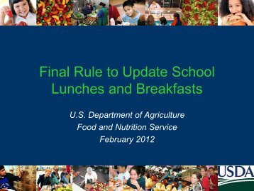 Final Rule to Update Lunches - School Nutrition Association