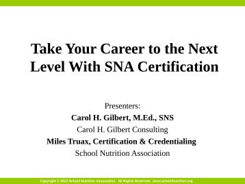 Take Your Career to the Next Level With SNA Certification