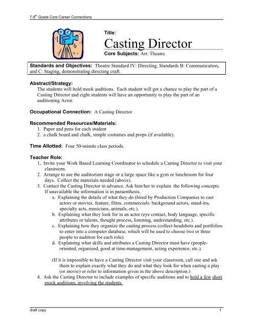 Student casting casting