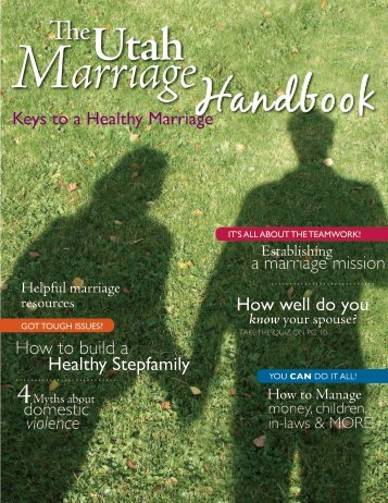 The Utah Marriage Handbook - Utah State University Extension