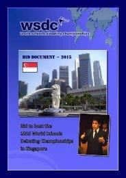 BID DOCUMENT – 2015 - World Schools Debating Championships