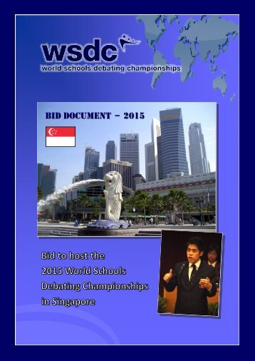 BID DOCUMENT – 2015 - World Schools Debating Championships