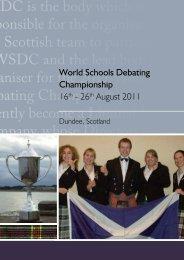 here - World Schools Debating Championships