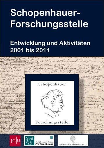 Rückblick - Schopenhauer-Forschungsstelle - Johannes Gutenberg ...