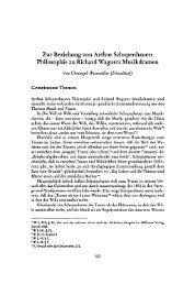 Zur Beziehung von Arthur Schopenhauers Philosophie zuRichard ...