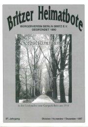 BURGERVEREIN BERLIN BRITZ E.V. ... - Bürgerverein Berlin Britz eV
