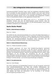 6 Stufen Modell - Schorle Unternehmensberatung