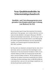 Neue Qualitätsmaßstäbe im - Der Schornsteinfeger