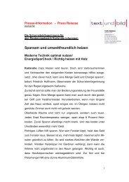 Sparsam und umweltfreundlich heizen - Der Schornsteinfeger