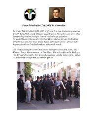 Peter Friedhofen-Tag 2006 in Ahrweiler - Schornsteinfeger-Innung ...