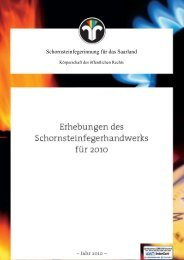 Statistik 2010 - Schornsteinfeger-Innung für das Saarland