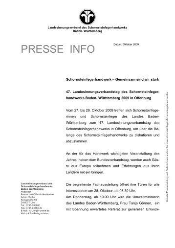 Vollständige Pressemeldung als pdf-Datei - LIV Baden- Württemberg