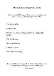 Schornsteinfeger in Europa - Schornsteinfeger-maengel.de