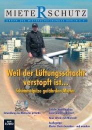 Mieterschutzbund schlägt Alarm - Schornsteinfeger-maengel.de