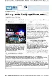 Zwei junge Männer erstickt - Schornsteinfeger-maengel.de