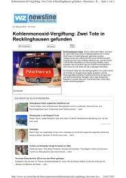 Zwei Tote in Recklinghausen gefunden - Schornsteinfeger-maengel ...