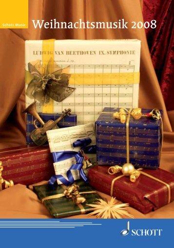 Weihnachtsmusik 2008 - Schott Music