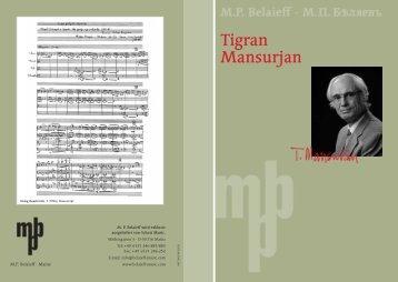Komponistenflyer Tigran Mansurjan - Schott Music