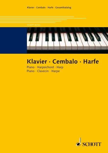 Klavier · Cembalo · Harfe - Schott Music