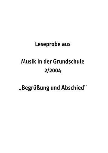 Leseprobe aus Musik in der Grundschule 2/2004 ... - Portraits