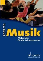 Materialien für die Sekundarstufen - Schott Music